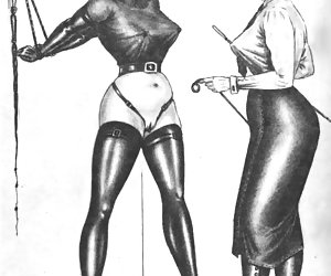 Lots of BDSM and hardcore petting were common for retro porn drawings.