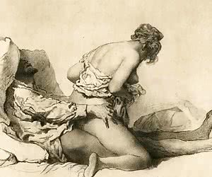 Passionate and desirable women were caught by an author of these vintage sex cartoons.