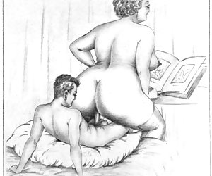 Tempting and lusty seduction was a good plot for vintage porn cartoons.