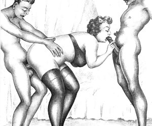 Wild imagination of ancient artists made these vintage porn cartoons so hot.