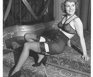 Once again gorgeous gals with hot bodies want to pose in their vintage lingerie to turn you on