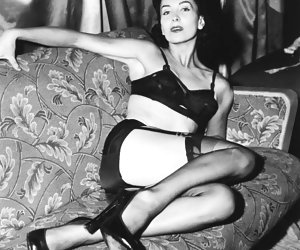 Seductive gals in retro lingerie like the idea of posing and showing their neat bodies before the camera