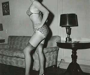 Some of these passionate ladies in vintage lingerie show not only legs but breasts as well