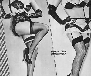 Timid cuties proudly show their vintage lingerie while posing on these wonderful erotic pictures