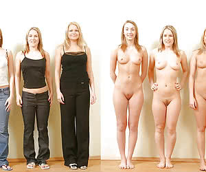 Group girls before and after